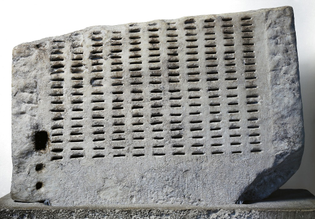 Kleroterion [Fragment] . Greece [III Century B.C.]