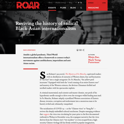 Reviving the history of radical Black-Asian internationalism