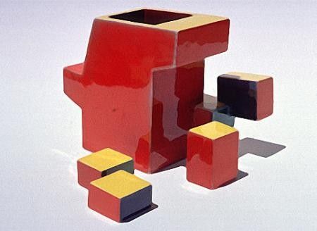 Ken Price Geometric Cup With Outriding Parts, 1974
