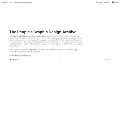 The People's Graphic Design Archive