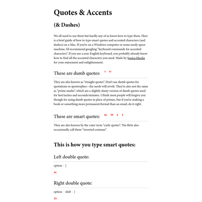 Quotes and Accents