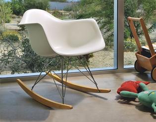 Eames Molded Plastic Armchair, Rocker Base $795