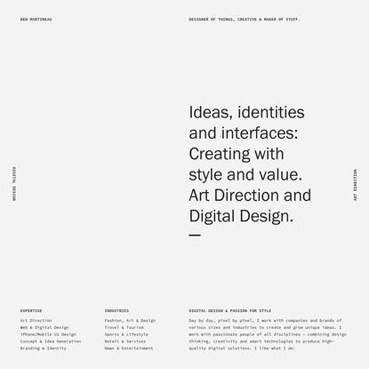 Ben Martineau - Digital Designer & Art Director