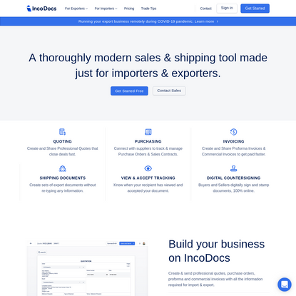 IncoDocs: Free Cloud Invoicing & Export Documentation Tool