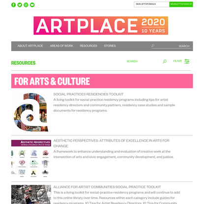 FOR ARTS & CULTURE