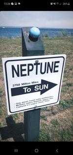neptune, 2798 miles to sun