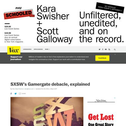 SXSW's Gamergate debacle, explained