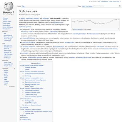 Scale invariance - Wikipedia