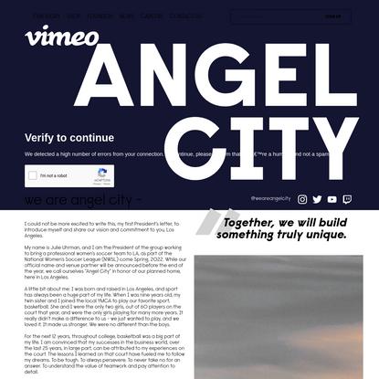 WE ARE ANGEL CITY