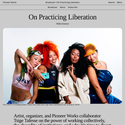 On Practicing Liberation