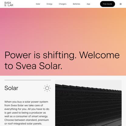 Svea Solar - Solar, chargers, batteries, energy