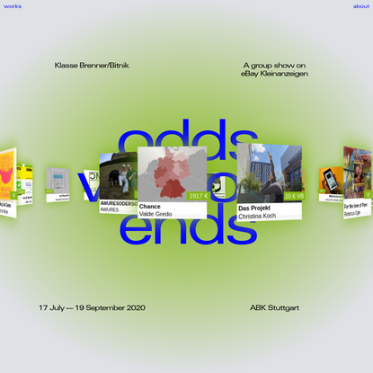 Odds without Ends | A group show on eBay Kleinanzeigen