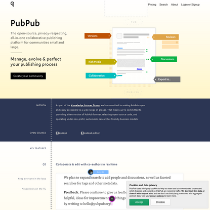 PubPub · Community Publishing