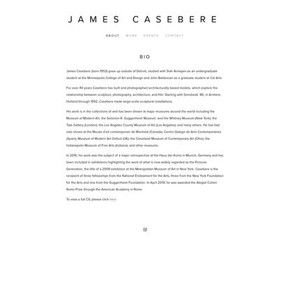 Bio - James Casebere