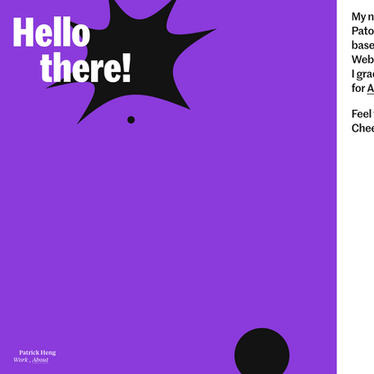 Patrick Heng - Creative Developer Portfolio