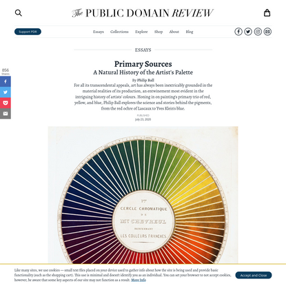 Primary Sources: A Natural History of the Artist's Palette – The Public Domain Review