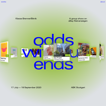 Odds without Ends   A group show on eBay Kleinanzeigen