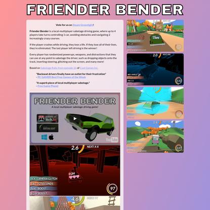 Friender Bender by Wickedly