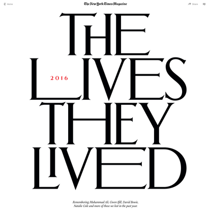 The Lives They Lived