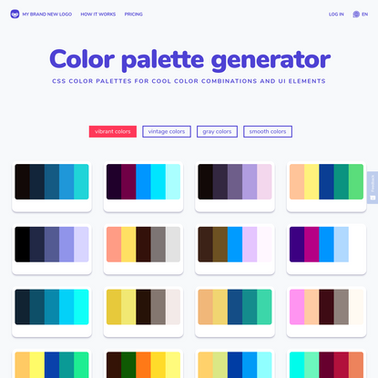 CSS Color Palette Generator: beautiful color palettes for free