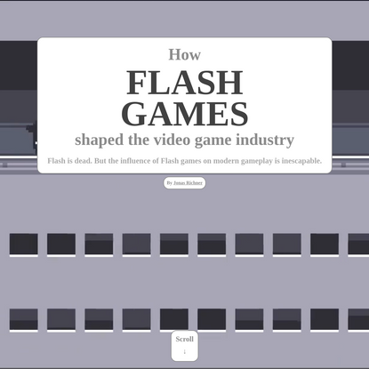 How Flash games shaped the video game industry