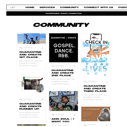 BLACKONBLACK | COMMUNITY
