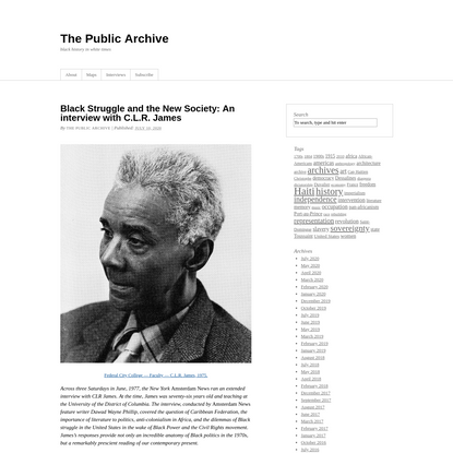 The Public Archive   black history in white times