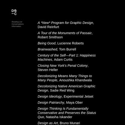 Design Book Club - Reading List