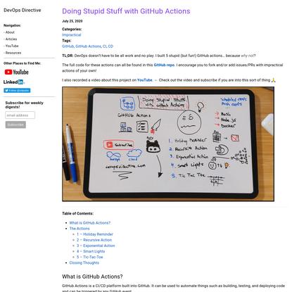 Doing Stupid Stuff with GitHub Actions | DevOps Directive