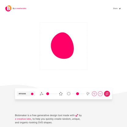 Blobmaker - Make organic SVG shapes for your next design