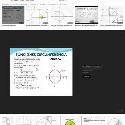 funcion matematica circulo at DuckDuckGo