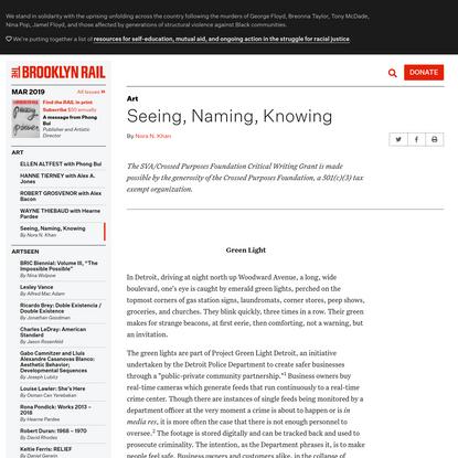 Week 1: The Machine Eye — Seeing, Naming, Knowing by Nora Khan