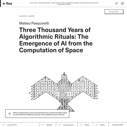Week 1: The Machine Eye — Three Thousand Years of Algorithmic Rituals: The Emergence of AI from the Computation of Space