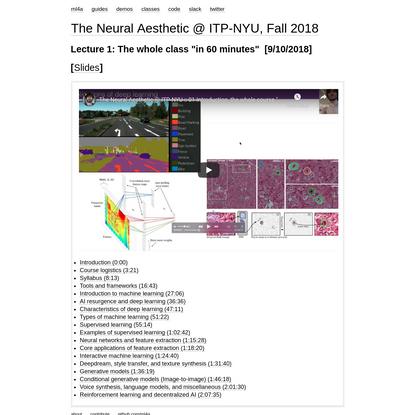 Week 2: Encoding Aesthetics — The Neural Aesthetic @ ITP-NYU, Fall 2018