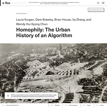 Week 3: Policing in n-dimensions — Homophily: The Urban History of an Algorithm