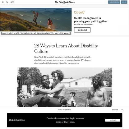 28 Ways to Learn About Disability Culture