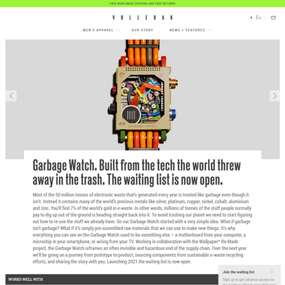 Garbage Watch. Built from the tech the world threw away in the trash. The waiting list is now open.
