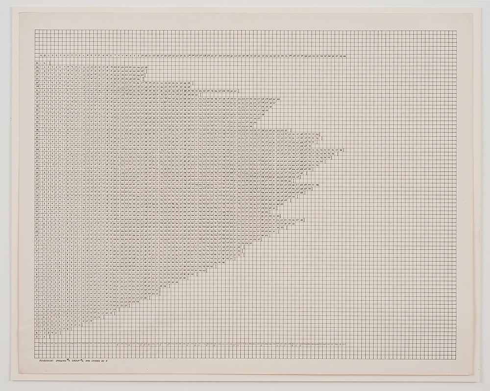 Charles Gaines, Regression: Drawing #5, Group #2 [1973-74]