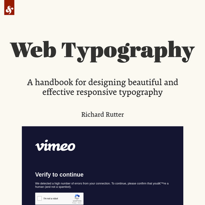 Web Typography by Richard Rutter