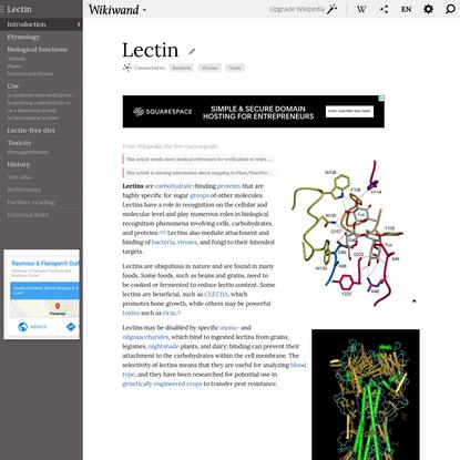 Lectin | Wikiwand