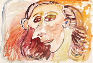Woman with a Sharp Nose by Tony Tuckson