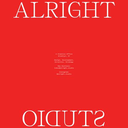 Alright Studio - Brooklyn, NY - Web Design + Development