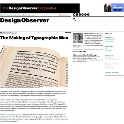 The Making of Typographic Man