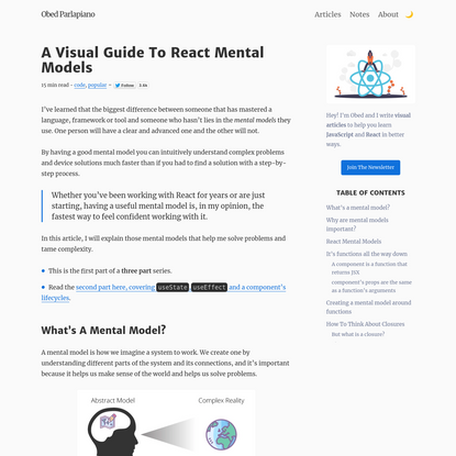 A visual guide to React Mental models
