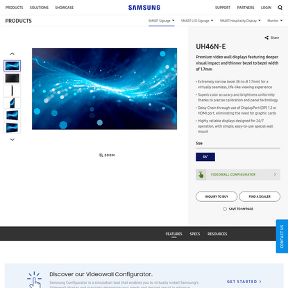 UH46N-E   SMART Signage   Samsung Display Solutions