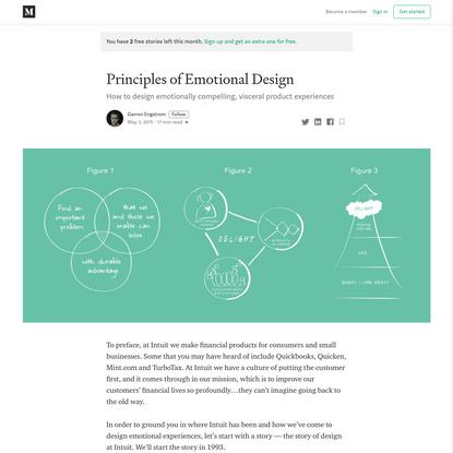 Principles of Emotional Design