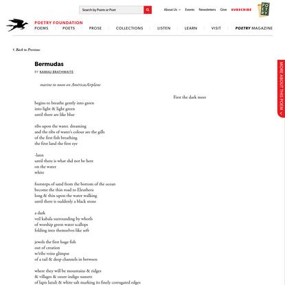 Bermudas by Kamau Brathwaite   Poetry Foundation