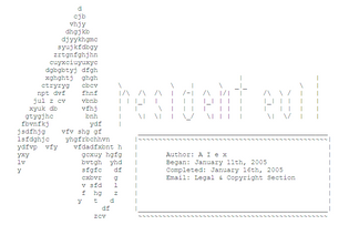 Pour one out for the GameFAQs ASCII artists of yore (poster is not a fucking racism smuggler edition)