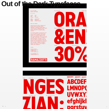 Out of the Dark Typefaces