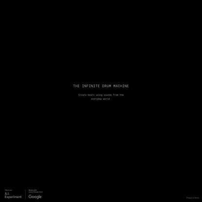 The Infinite Drum Machine